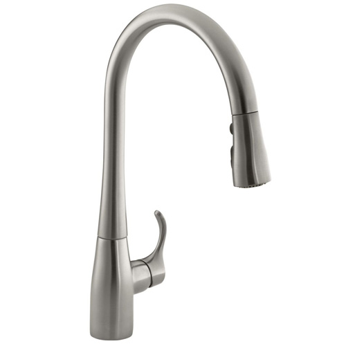 Kohler K  Vs Simplice Pull Down Kitchen Sink Faucet