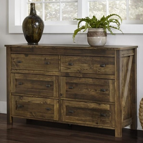 6 Furniture Styles You Really Need To Consider In 2018: Altra Farmington Century Barn Pine 6 Drawer Dresser