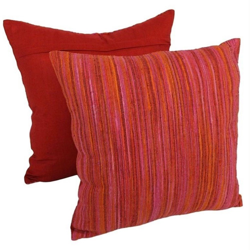 Decorative Pillows With Red In Them : Blazing Needles 20 inch Throw Pillows in Red Palette (Set of 2) BestHomeHQ.com