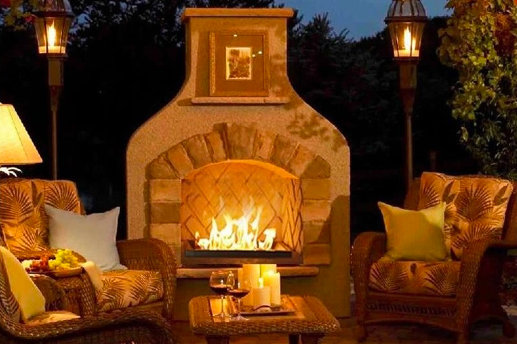 Outdoor Greatroom Company Sonoma Gas Fireplace Surround In