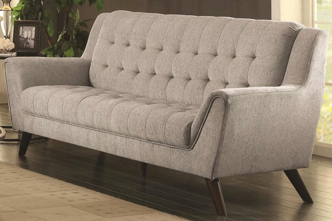 Chaviano Sofa In White Leatherette 505391 By Coaster W Options: Coaster Chaviano Tufted Sofa In White